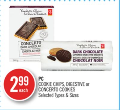 PC Cookie Chips - Digestive or Concerto Cookies