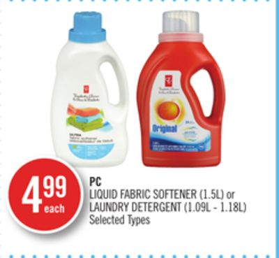PC Liquid Fabric Softener (1.5l) or Laundry Detergent (1.09l - 1.18l)
