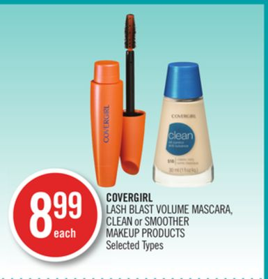 Covergirl Lash Blast Volume Mascara - Clean or Smoother Makeup Products