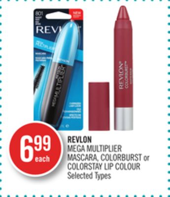Revlon Mega Multiplier Mascara - Colorburst or Colorstay Lip Colour