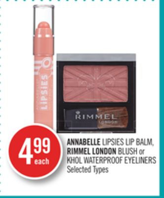 Annabelle Lipsies Lip Balm - Rimmel London Blush or Khol Waterproof Eyeliners