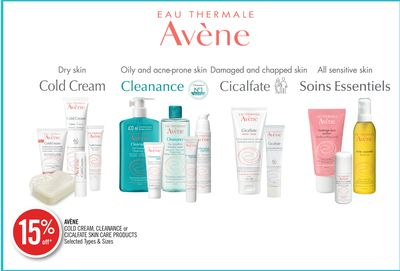 Avène Cold Cream - Cleanance or Cicalfate Skin Care Products