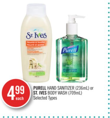 Purell Hand Sanitizer (236ml) or St. Ives Body Wash (709ml)