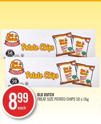 Old Dutch Treat Size Potato Chips