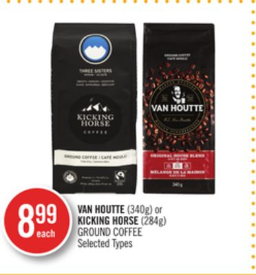 Van Houtte (340g) or Kicking Horse (284g) Ground Coffee