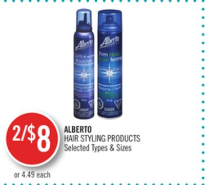 Alberto Hair Styling Products