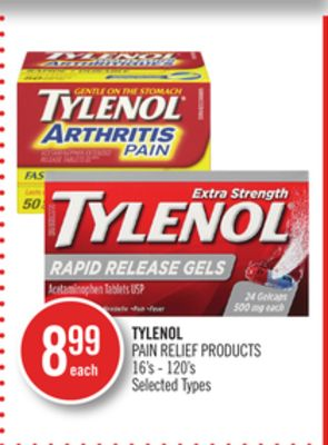 Tylenol Pain Relief Products