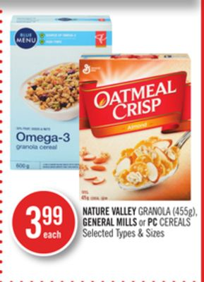 Nature Valley Granola (455g) - General Mills or PC Cereals