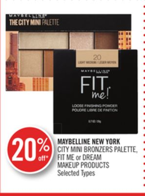 Maybelline New York City Mini Bronzers Palette - Fit Me or Dream Makeup Products
