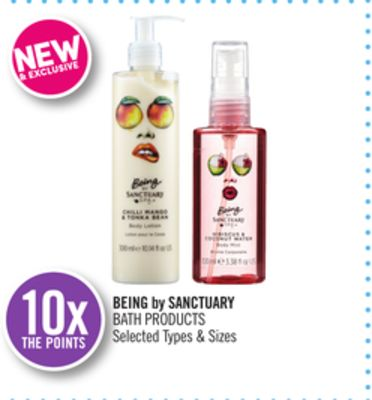Being By Sanctuary Bath Products