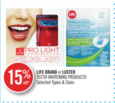 Life Brand or Luster Teeth Whitening Products