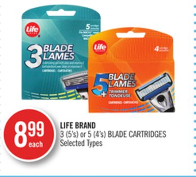 Life Brand 3 (5's) or 5 (4's) Blade Cartridges