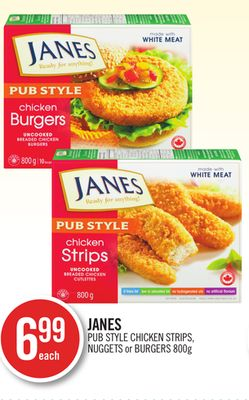 Janes Pub Style Chicken Strips - Nuggets or Burgers