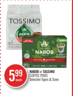 Nabob or Tassimo Coffee PODS