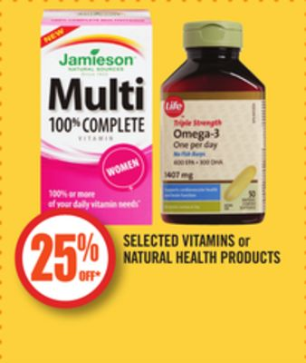 Selected Vitamins or Natural Health Products