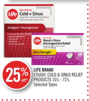 Life Brand Cough - Cold & Sinus Relief Products