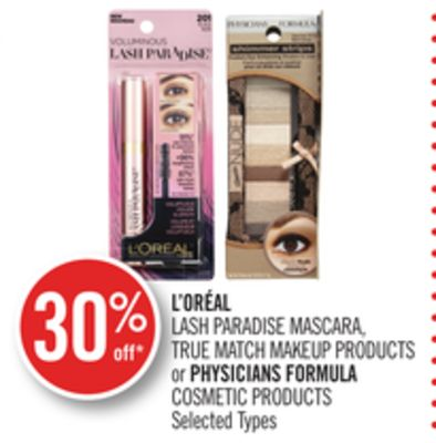 L'oréal Lash Paradise Mascara - True Match Makeup Products or Physicians Formula Cosmetic Products