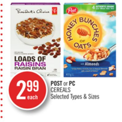 Post or PC Cereals