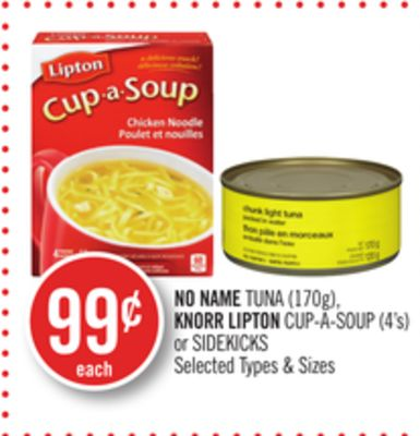 No Name Tuna (170g) - Knorr Lipton Cup-a-soup (4's) or Sidekicks