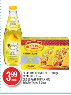 Hereford Corned Beef (340g) - Becel Oil (1l) or Old El Paso Dinner Kits