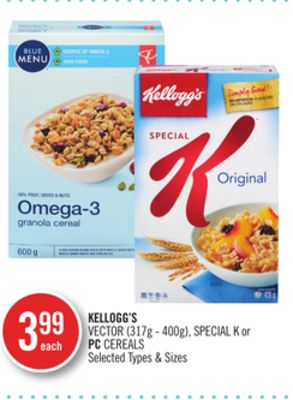 Kellogg's Vector (317g - 400g) - Special K or PC Cereals