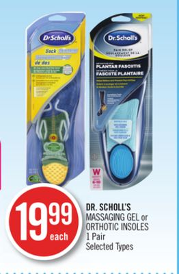 Dr. Scholl's Massaging Gel or Orthotic Insoles