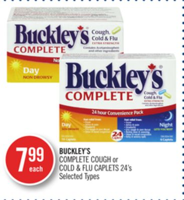Buckley's Complete Cough or Cold & Flu Caplets 24's