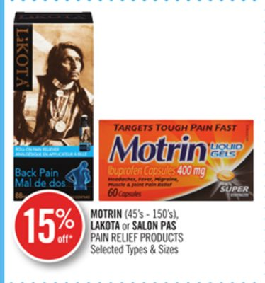 Motrin(45's - 150's) - Lakota or Salon Pas Pain Relief Products