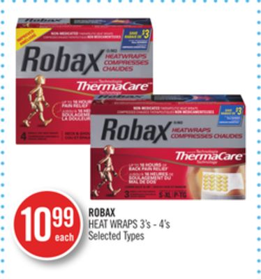 Robax Heat Wraps 3's - 4's