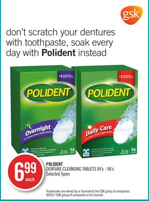 Polident Denture Cleansing Tablets