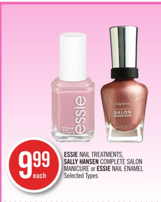 Essie Nail Treatments - Sally Hansen Complete Salon Manicure or Essie Nail Enamel