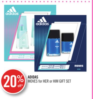 Adidas Moves For Her or Him Gift Set