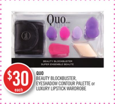 Quo Beauty Blockbuster - Eyeshadow Contour Palette or Luxury Lipstick Wardrobe