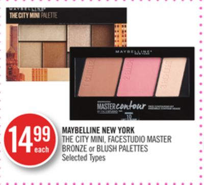 Maybelline New York The City Mini - Facestudio Master Bronze or Blush Palettes