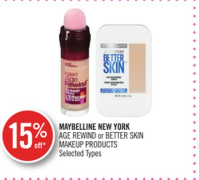 Maybelline New York Age Rewind or Better Skin Makeup Products
