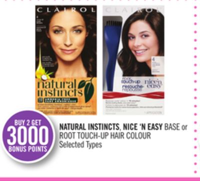 Natural Instincts.nice 'N Easy Base or Root Touch-up Hair Colour