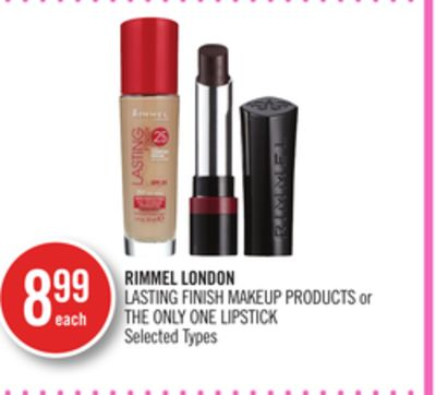 Rimmel London Lasting Finish Makeup Products or The Only One Lipstick