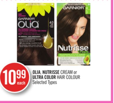 Olia - Nutrisse Cream or Ultra Color Hair Colour