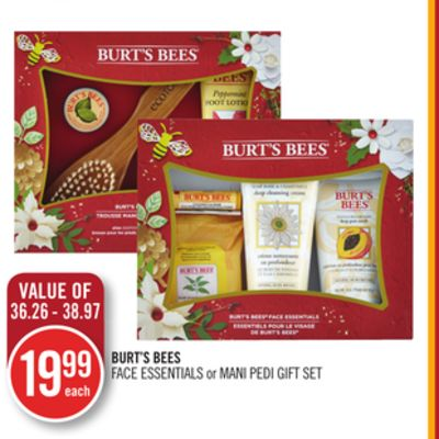 Burt's Bees Face Essentials or Mani Pedi Gift Set