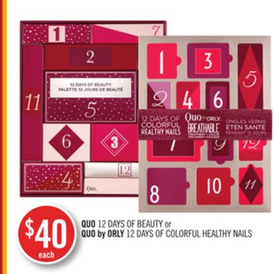 Quo 12 Days Of Beauty or Quo By Orly 12 Days Of Colorful Healthy Nails