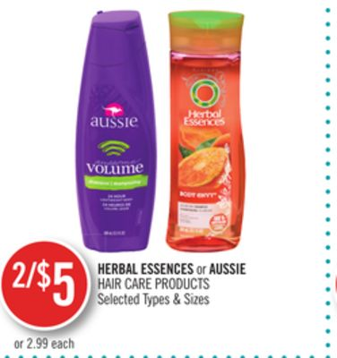 Herbal Essences or Aussie Hair Care Products
