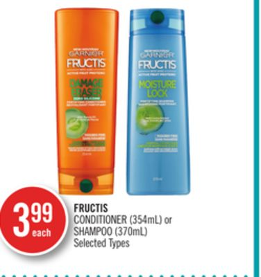 Fructis Conditioner (354ml) or Shampoo (370ml)