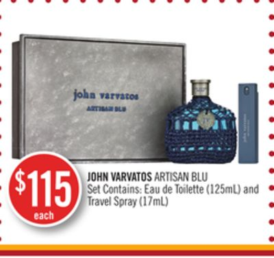 John Varvatos Artisan Blu Set Contains: Eau de Toilette (125ml) and Travel Spray (17ml)