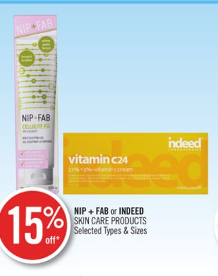 Nip + Fab or Indeed Skin Care Products