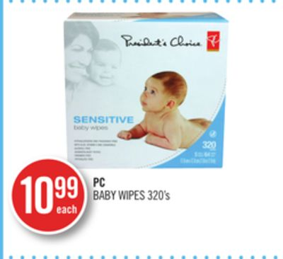 PC Baby Wipes 320's