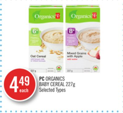 PC Organics Baby Cereal