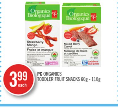 PC Organics Toddler Fruit Snacks
