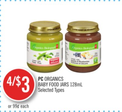 PC Organics Baby Food Jars