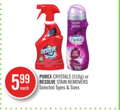 Purex Crystals (510g) or Resolve Stain Removers