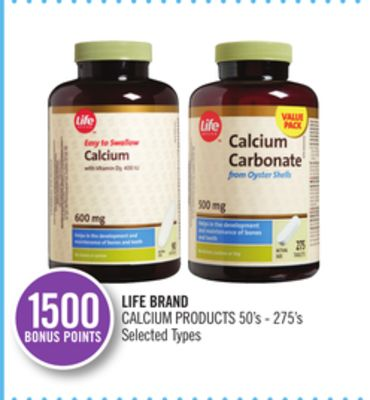 Life Brand Calcium Products